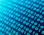 Stock photo of abstract binary numbers