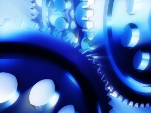 Stock photo of cogs in a machine