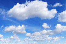 Stock photo of clouds with blue sky in background