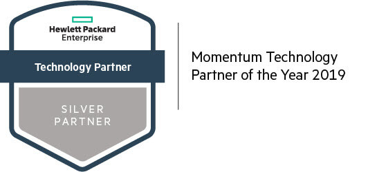 HPE Silver Partner logo Momentum Technology Partner of the Year